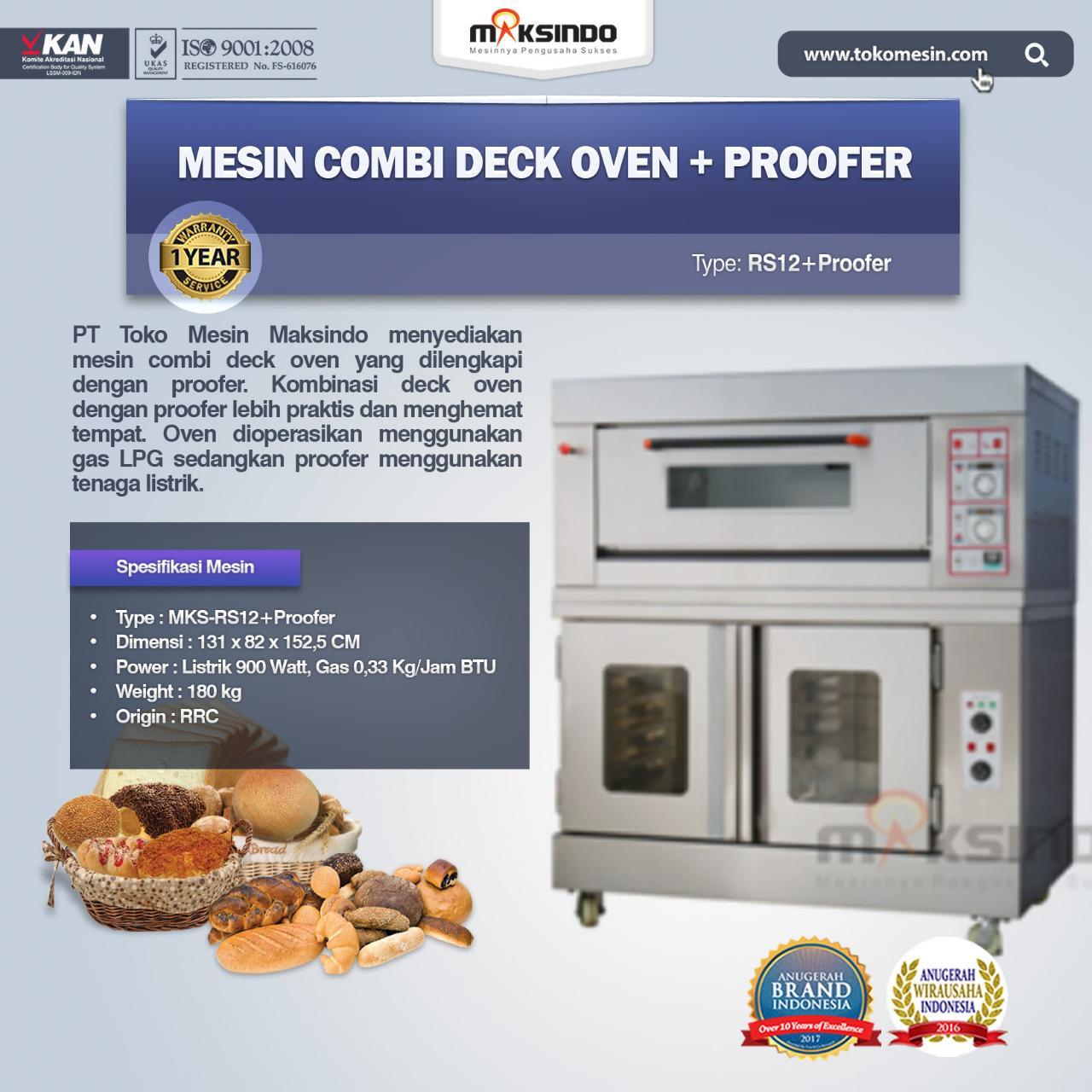 Jual Kombinasi OVEN Gas – Proofer (RS12+proofer) di Banjarmasin