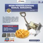 Jual Mesin Pengiris Kentang Manual Horizontal (KG-02) di Banjarmasin