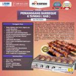 Jual Pemanggang BBQ Stainless (gas) 6 Tungku di Banjarmasin