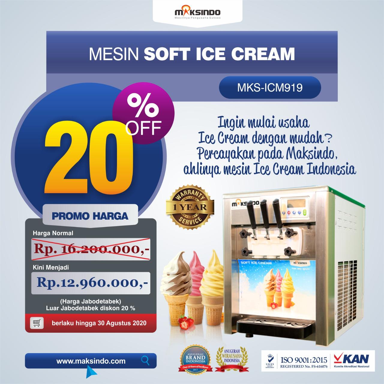 Jual Mesin Es Krim (Soft Ice Cream) Lengkap di Banjarmasin