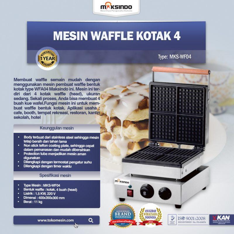 Jual Mesin Waffle Kotak 4 (WF04) di Banjarmasin