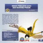 Jual Mesin Perajang Ranting Dan Kayu Basah – KP15 di Banjarmasin