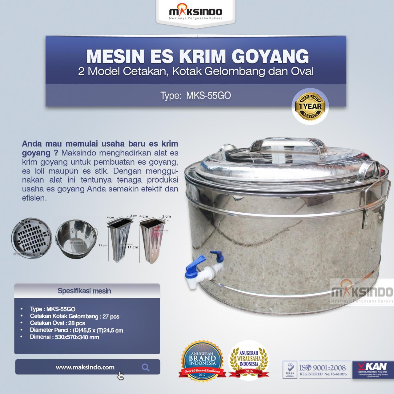 Jual Mesin Es Krim Goyang MKS-55GO di Banjarmasin
