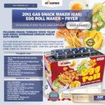 Jual Mesin Egg Roll Gas 2in1 Plus Fryer ERG007 Maksindo di Banjarmasin