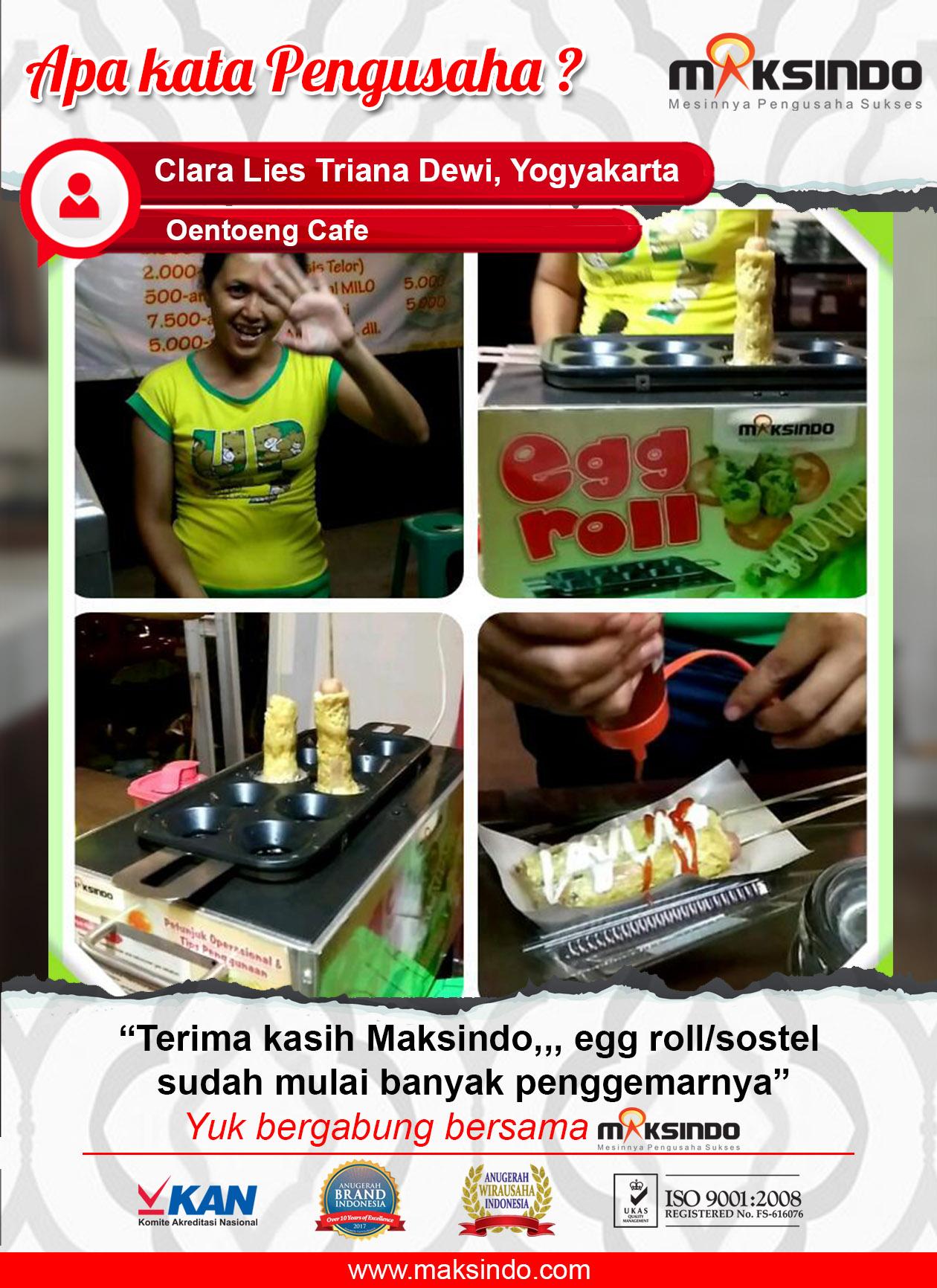 Oentoeng Cafe : Usaha Makin Lancar Dengan Mesin Egg Roll Maksindo