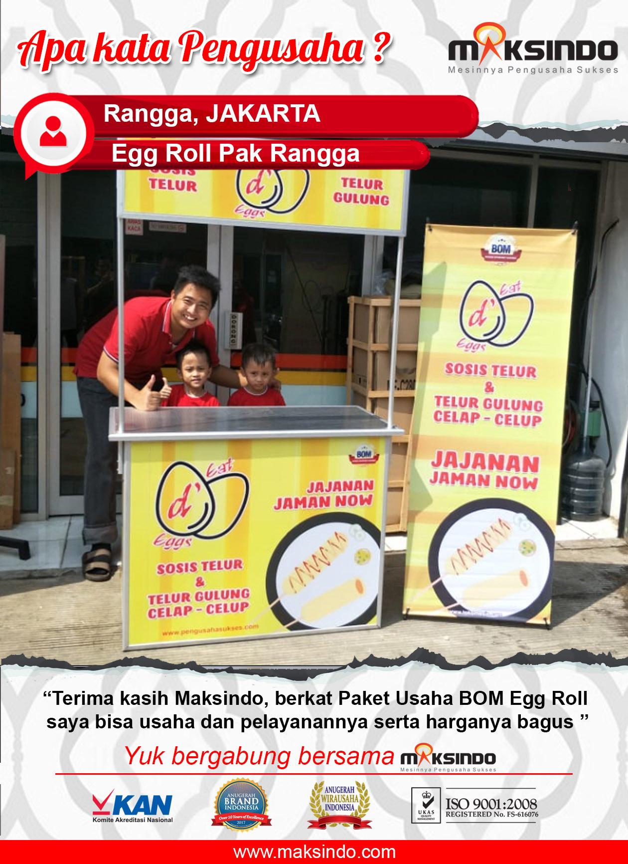 Egg Rol Pak Rangga : Pengusaha Yang Terbantu Dengan Paket Egg Roll dari Maksindo