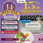 Jual Mesin Pembuat Egg Roll (Listrik) di Banjarmasin