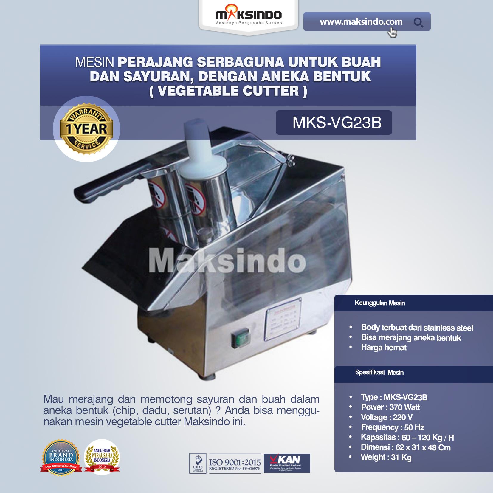 Jual Mesin Vegetable Cutter (MKS-VG23B) di Banjarmasin