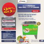 Jual Mesin Egg Roll Gas 6 Lubang GRILLO-GS6 di Banjarmasin
