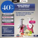 Jual Mesin Es Krim Buah Rumah Tangga di Banjarmasin
