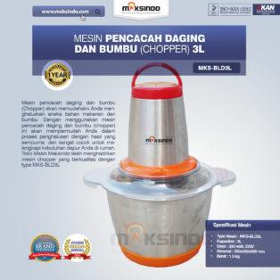 Jual Mesin Pencacah Daging dan Bumbu MKS-BLD3L di Banjarmasin