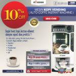 Jual Mesin Kopi Vending (Auto Coffee Instant Machine) di Banjarmasin