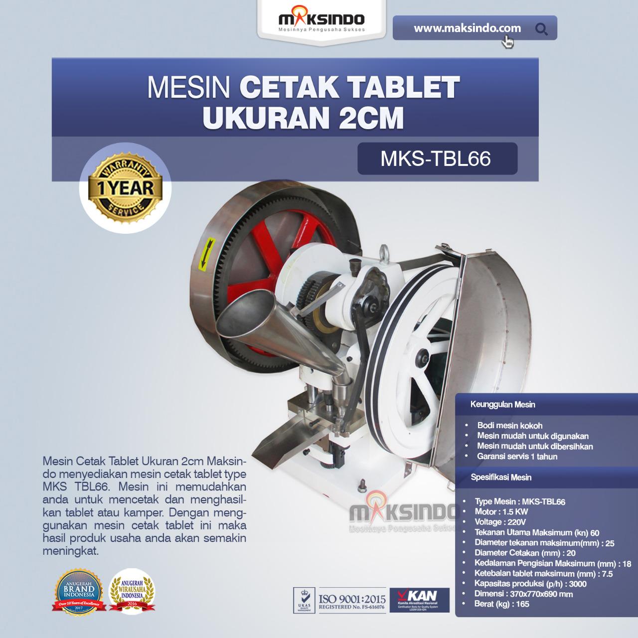 Jual Mesin Cetak Kamper MKS-TBL66 di Banjarmasin