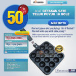 Jual Alat Cetakan Sate Telur Puyuh 16 Hole Ardin TKY-16 di Banjarmasin
