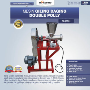 Jual Mesin Giling Daging Double Polly N-32SS di Banjarmasin