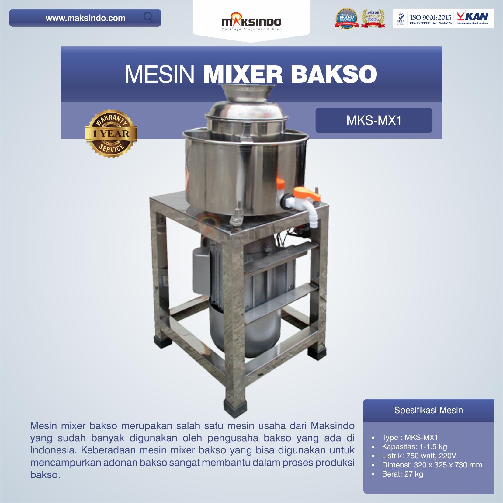 Jual Mesin Mixer Bakso MKS-MX1 di Banjarmasin