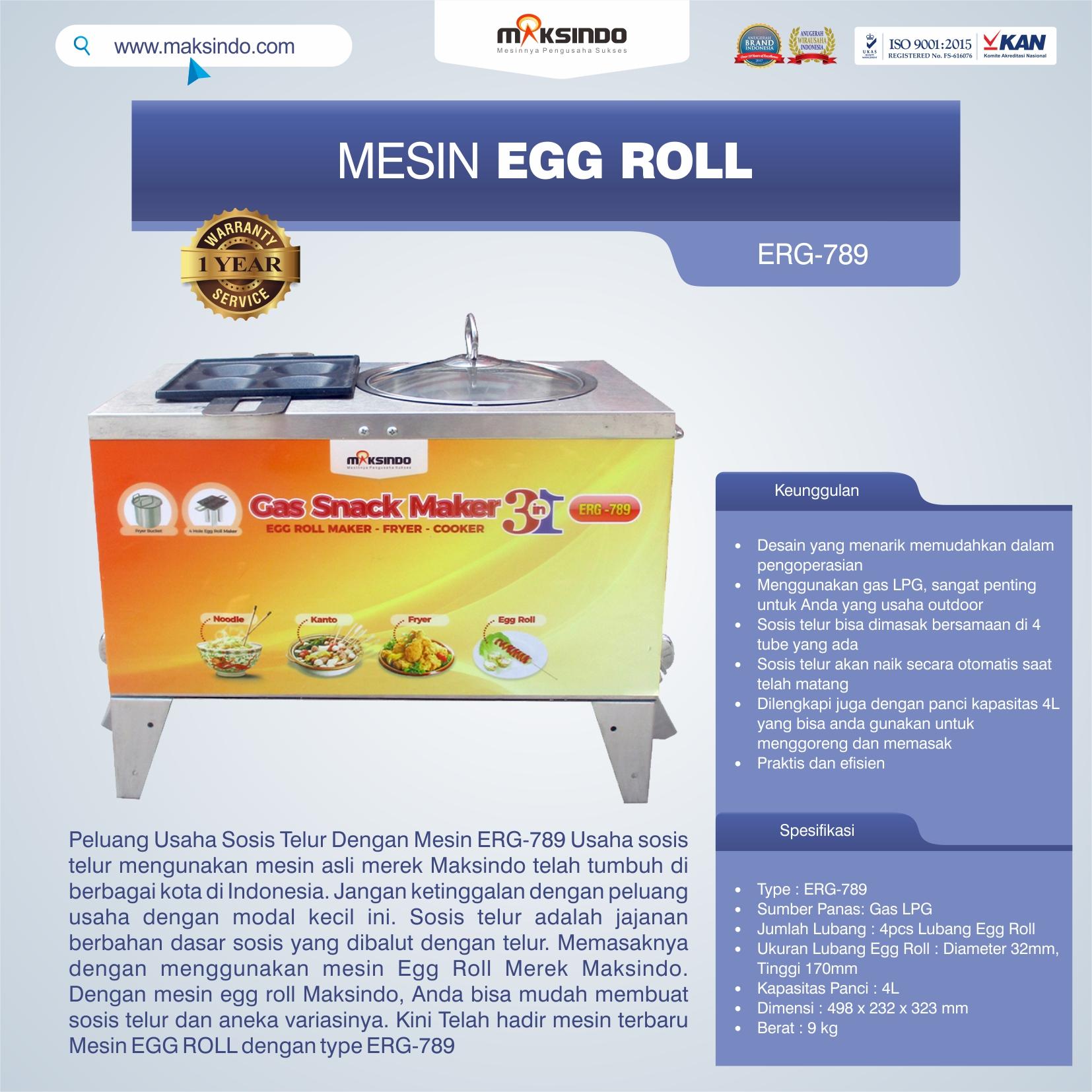 Jual Mesin Egg Roll ERG-789 di Banjarmasin