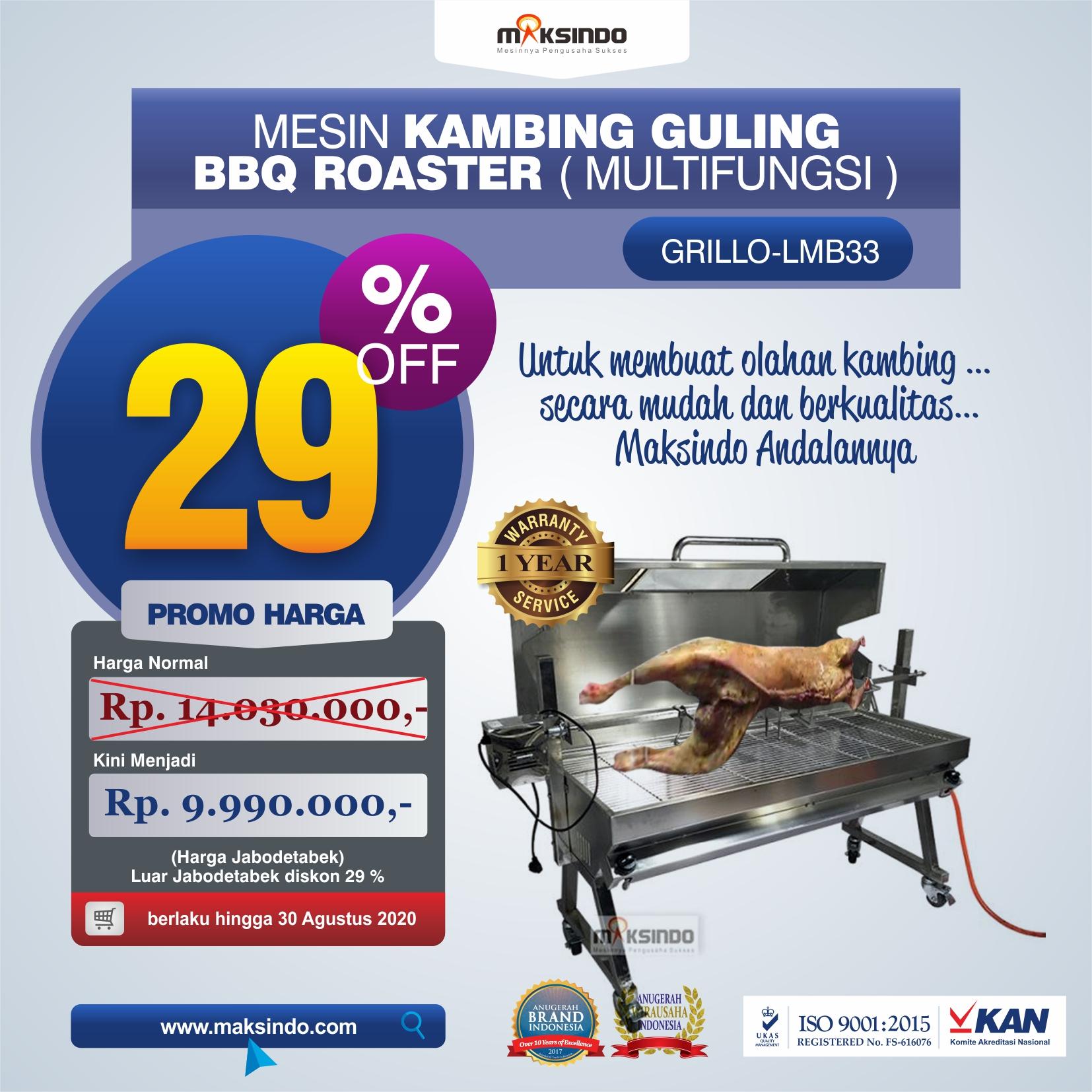Jual Mesin Kambing Guling BBQ Roaster (GRILLO-LMB33) di Banjarmasin