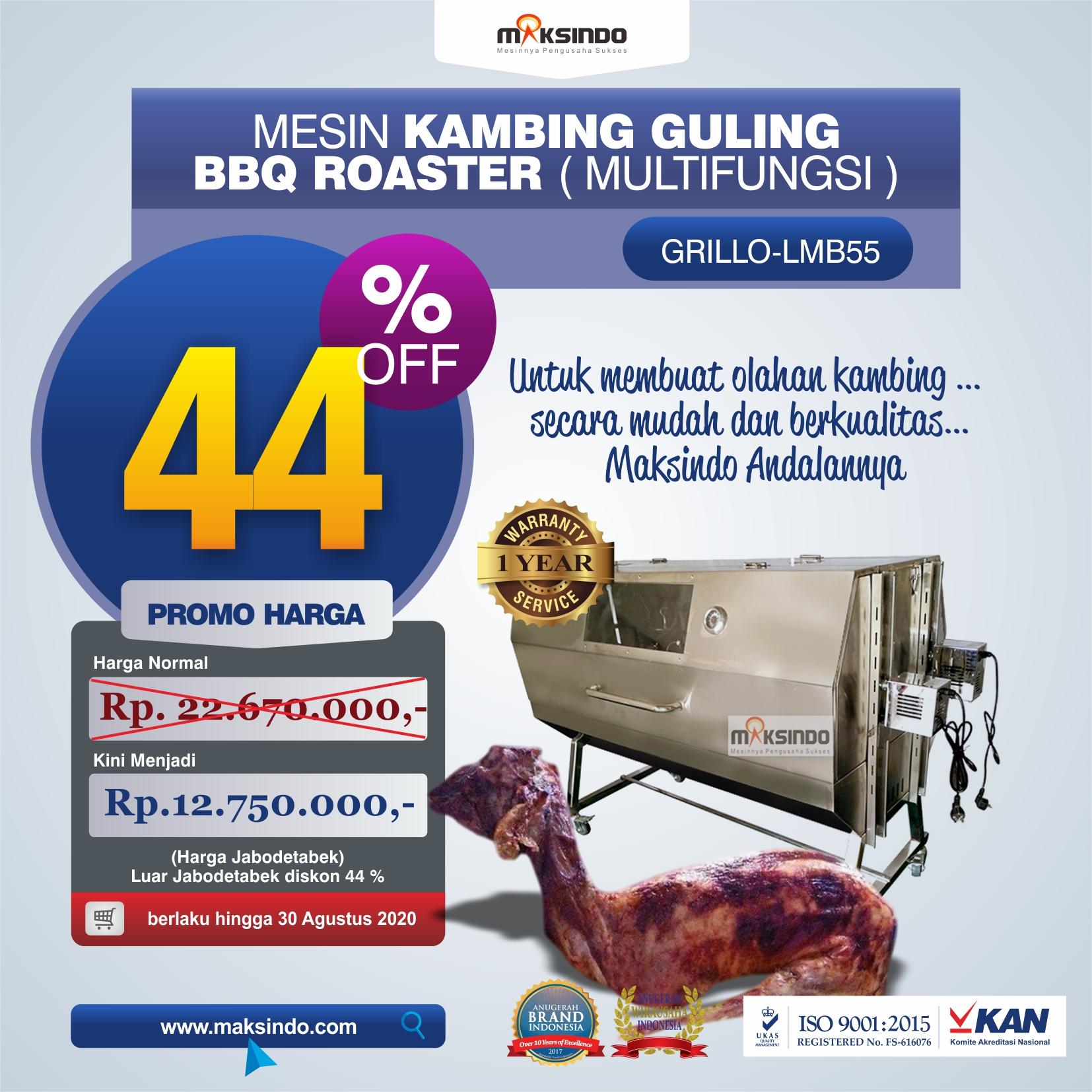 Jual Mesin Kambing Guling Double Location Roaster (GRILLO-LMB55) di Banjarmasin