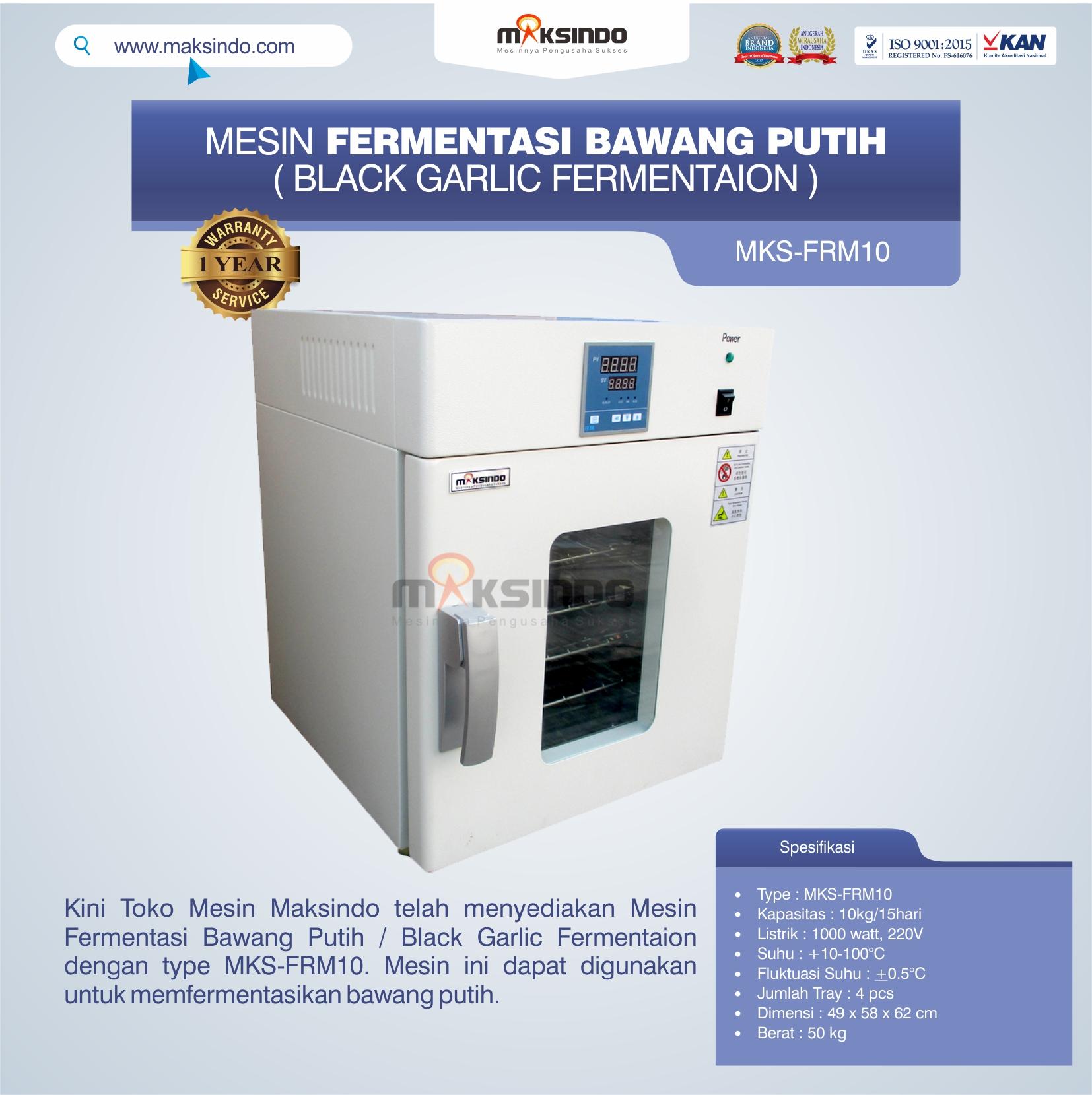 Jual Mesin Fermentasi Bawang Putih / Black Garlic Fermentaion MKS-FRM10 di Banjarmasin