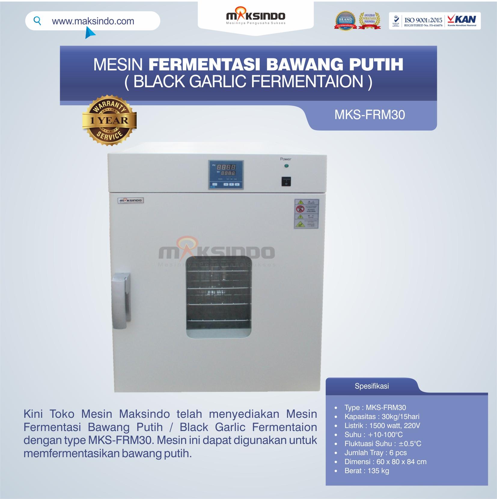 Jual Mesin Fermentasi Bawang Putih / Black Garlic Fermentaion MKS-FRM30 di Banjarmasin
