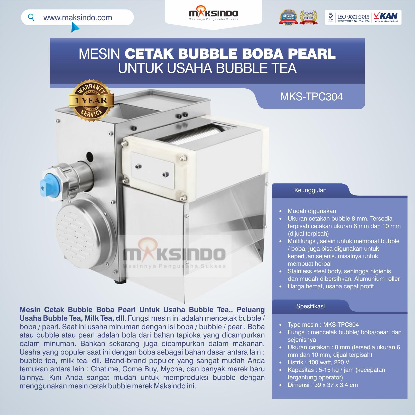 Jual Mesin Cetak Bubble Boba Pearl Untuk Usaha Bubble Tea di Banjarmasin