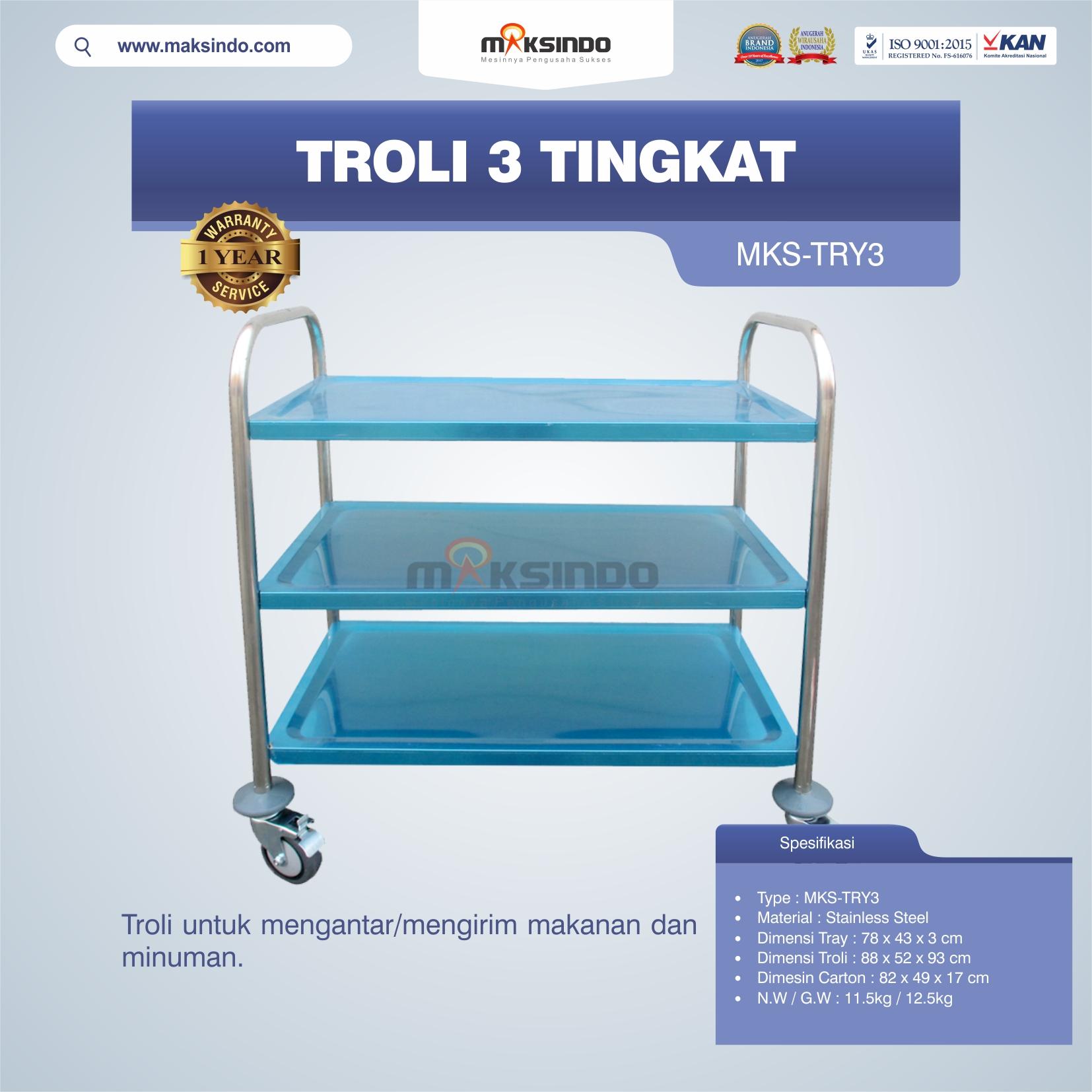 Jual Troli 3 Tingkat MKS-TRY3 di Banjarmasin