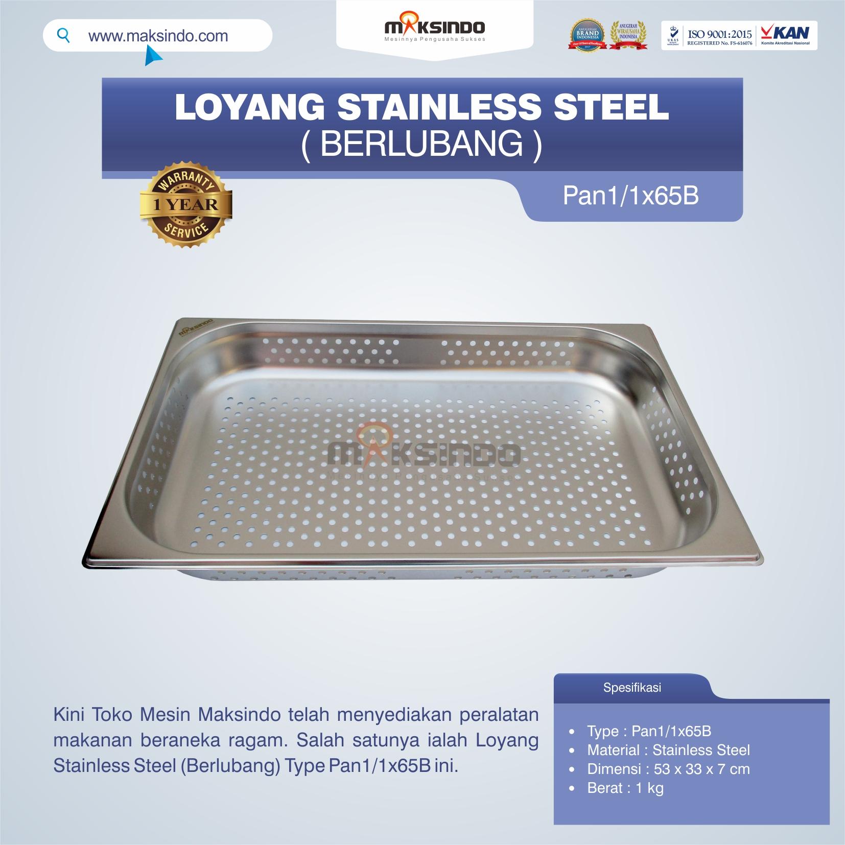 Jual Loyang Stainless Steel (Berlubang) Type Pan1/1x65B di Banjarmasin