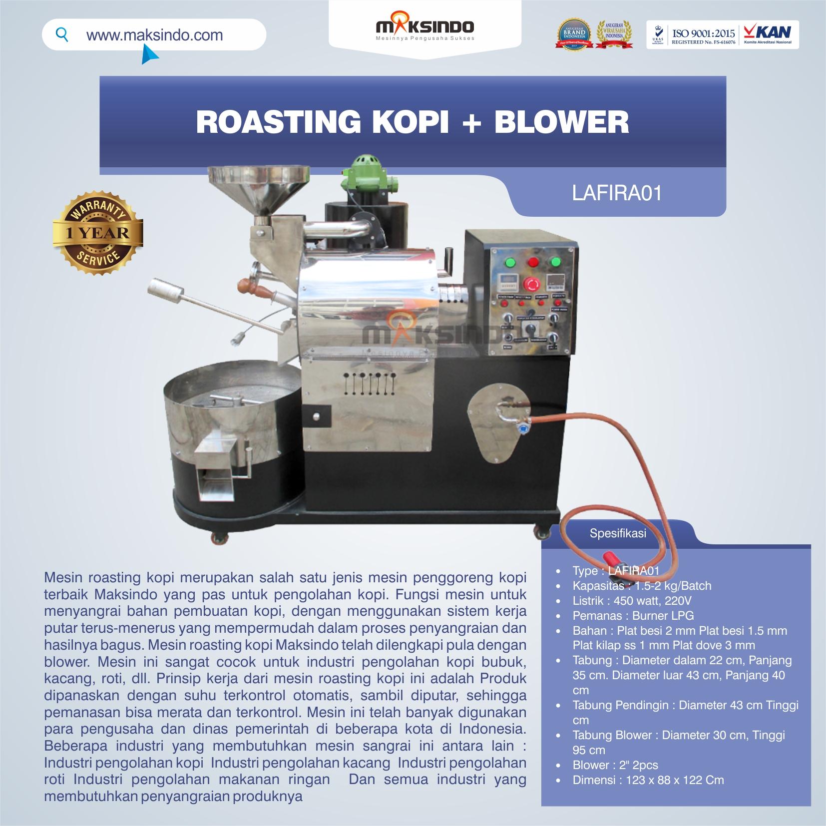 Jual Roasting Kopi + Blower LAFIRA01 di Banjarmasin