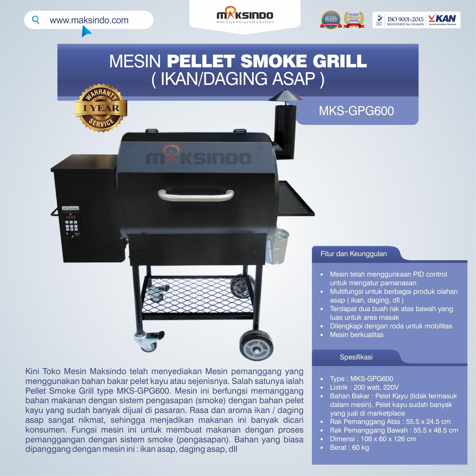 Jual Pellet Grill MKS-GPG600 di Banjarmasin