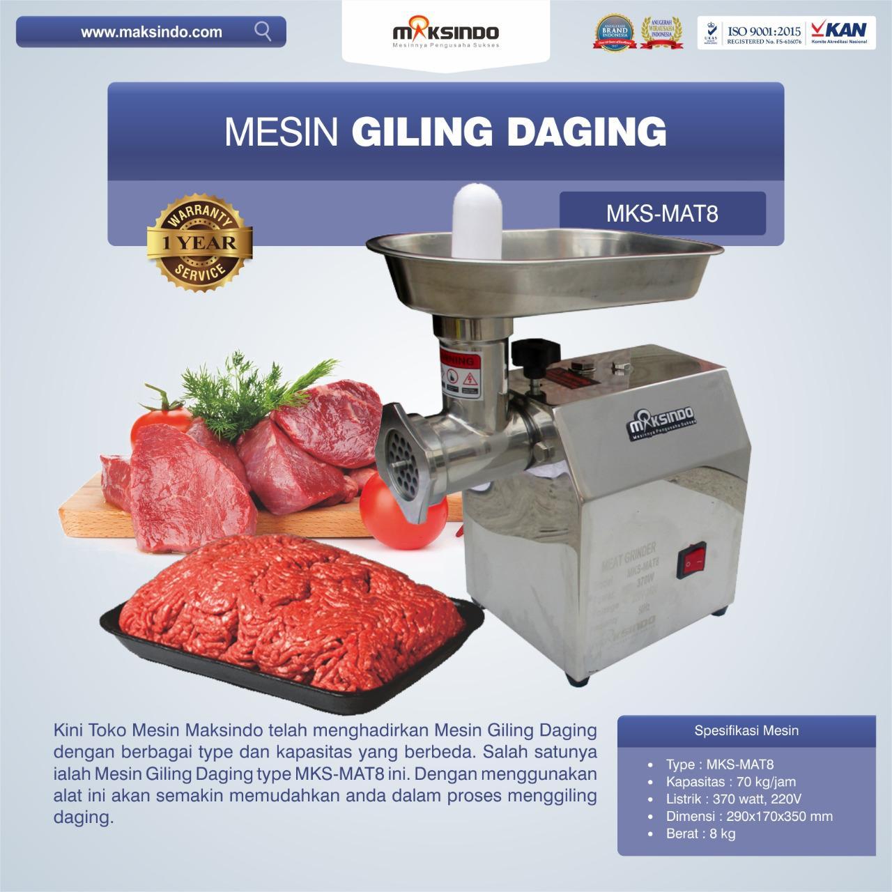 Jual Mesin Giling Daging MKS-MAT8 di Banjarmasin