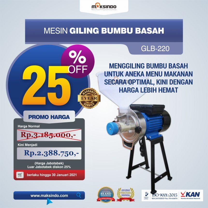 Jual Mesin Giling Bumbu Basah GLB220 di Banjarmasin
