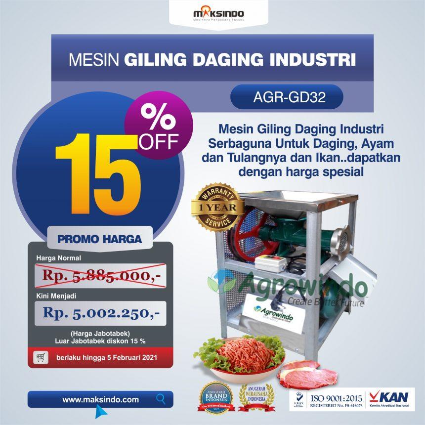 Jual Mesin Giling Daging Industri (AGR-GD32) di Banjarmasin