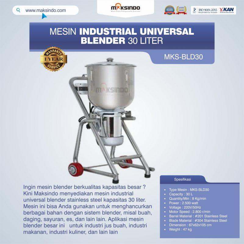 Jual Industrial Universal Blender 30 Liter MKS-BLD30 di Banjarmasin