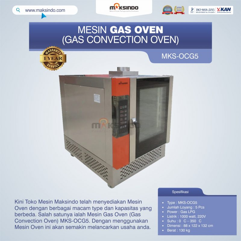 Jual Mesin Gas Oven (Gas Convection Oven) MKS-OCG5 di Banjarmasin