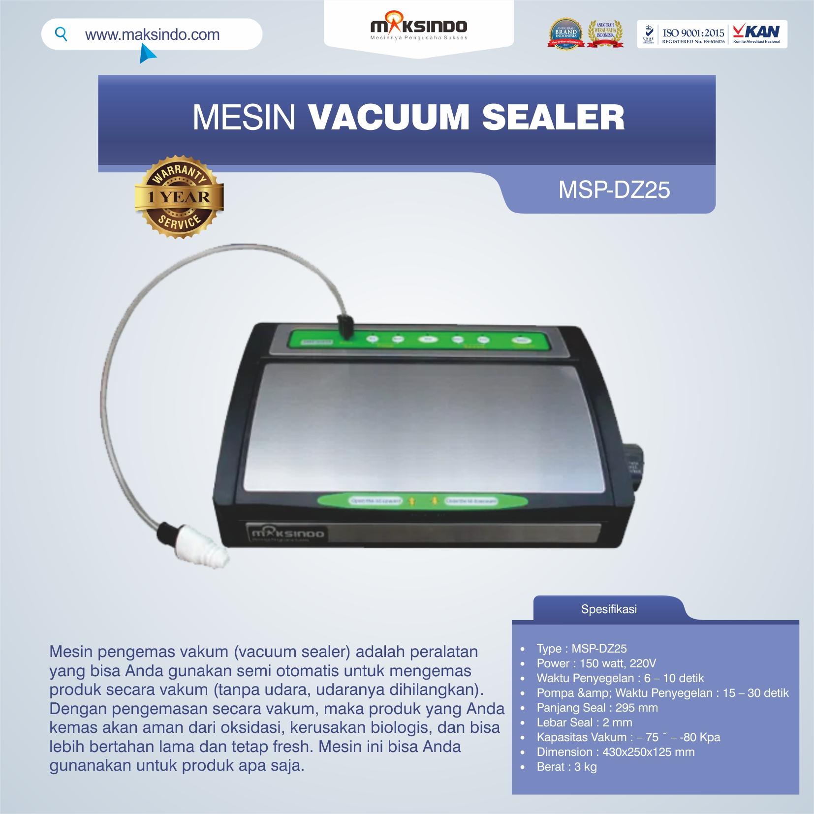 Jual Vacuum Sealer MSP-DZ25 di Banjarmasin