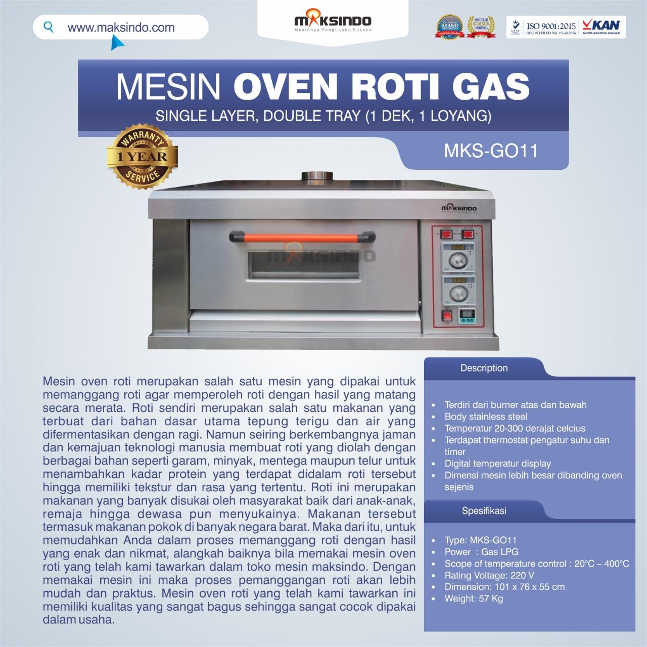 Jual Mesin Oven Roti Gas (MKS-GO11) di Banjarmasin