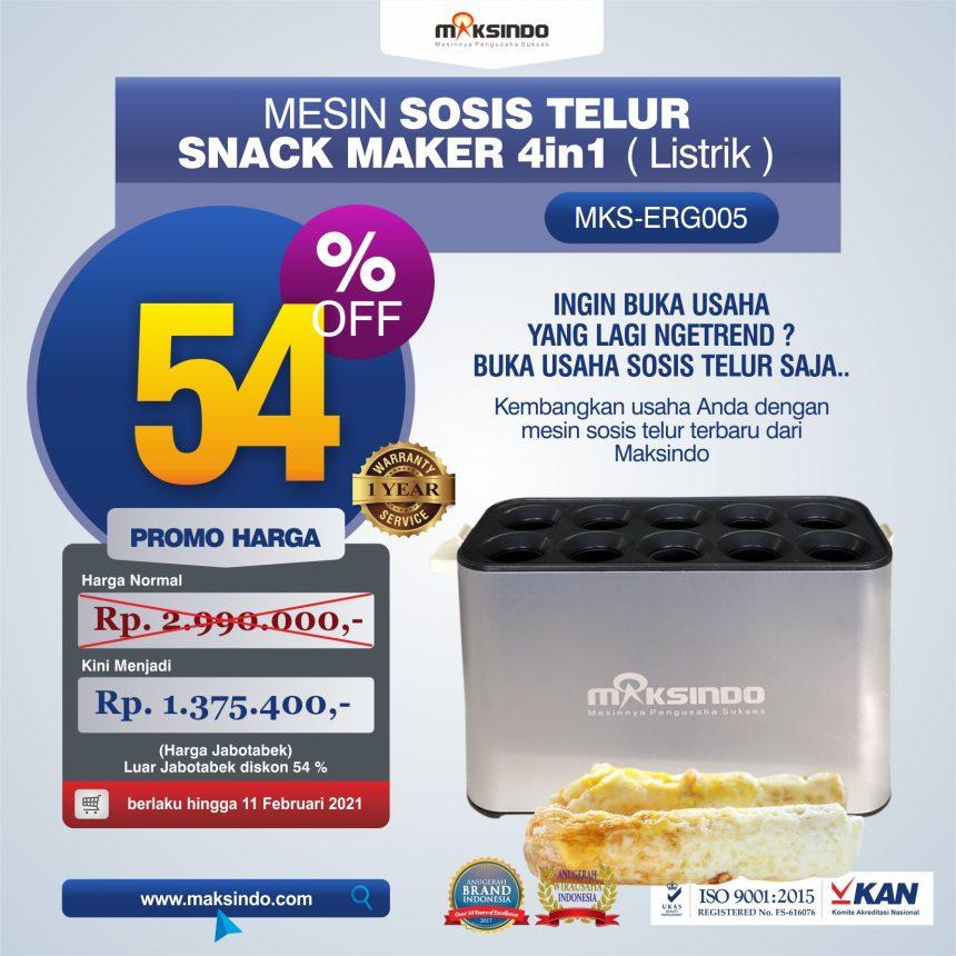 Jual Mesin Egg Roll Sosis Telur Snack Maker 4in1 Listrik di Banjarmasin
