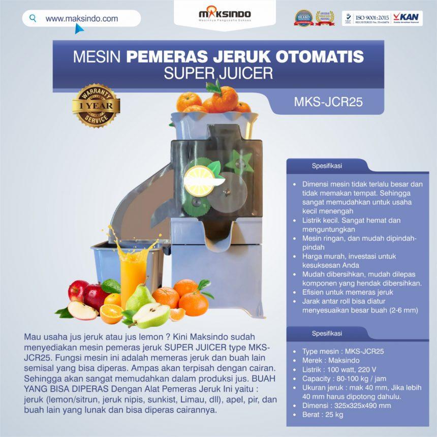 Jual Mesin Pemeras Jeruk Otomatis Super Juicer MKS-JCR25 di Banjarmasin