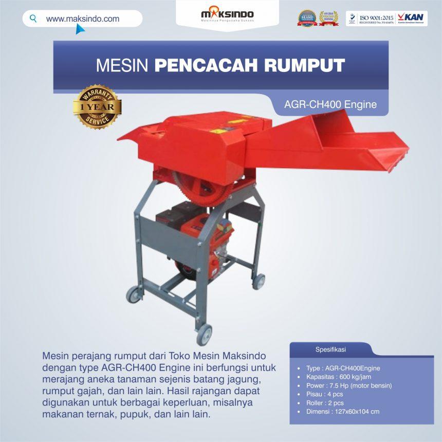 Jual Mesin Pencacah Rumput AGR-CH400 Engine di Banjarmasin