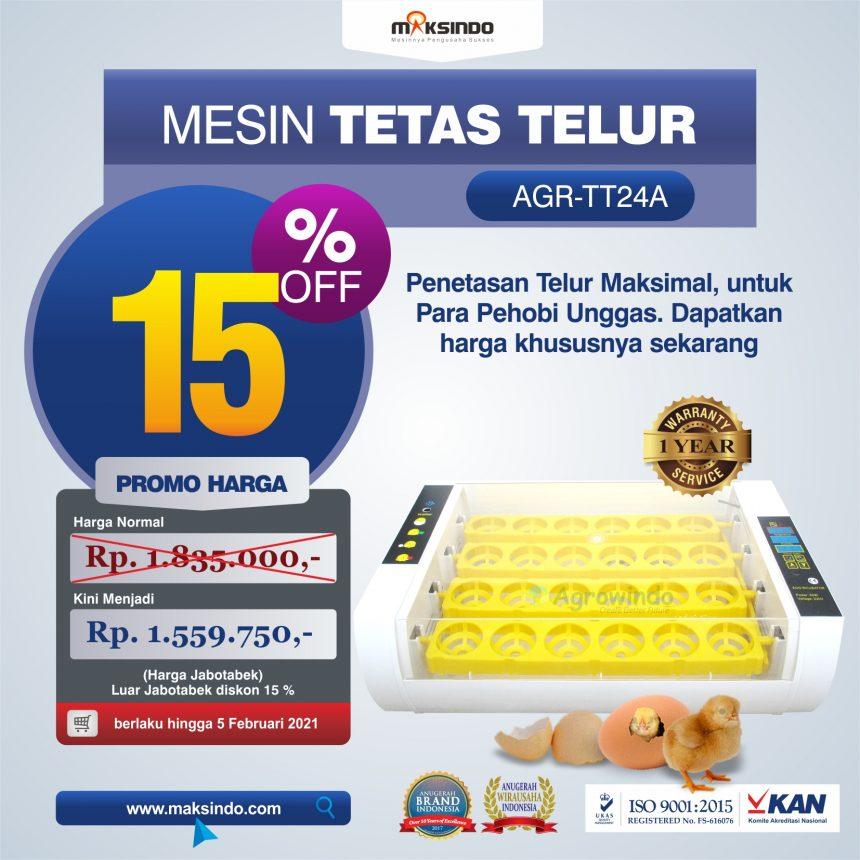 Jual Mesin Penetas Telur AGR-TT24A di Banjarmasin