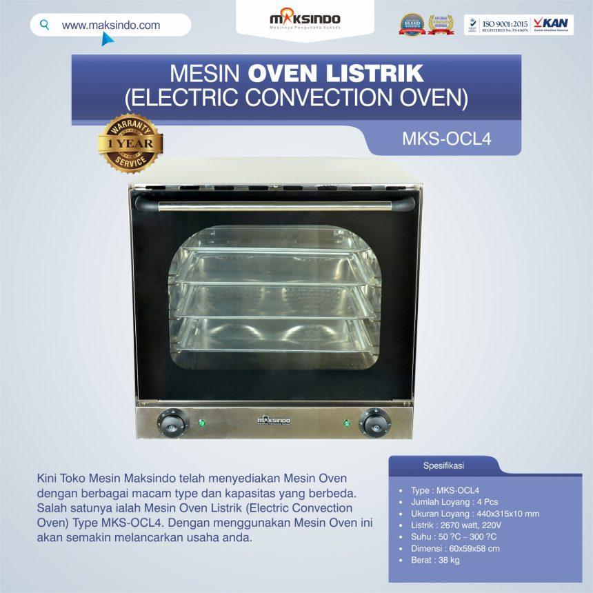 Jual Mesin Oven Listrik (Electric Convection Oven) MKS-OCL4 di Banjarmasin