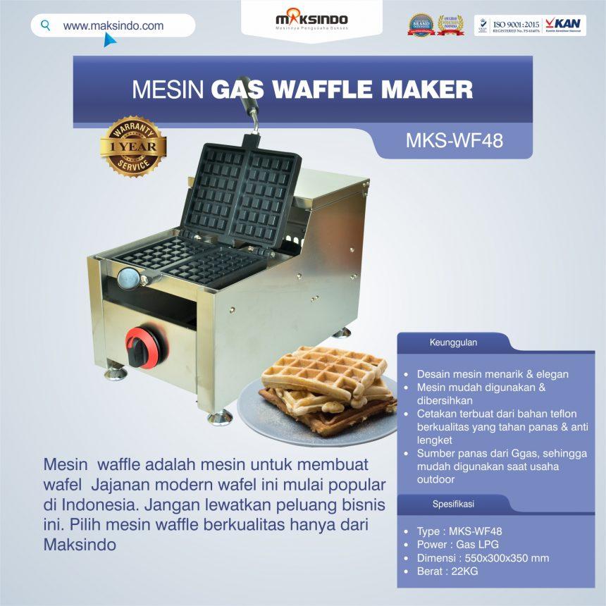 Jual Mesin Gas Waffle Maker MKS-WF48 di Banjarmasin