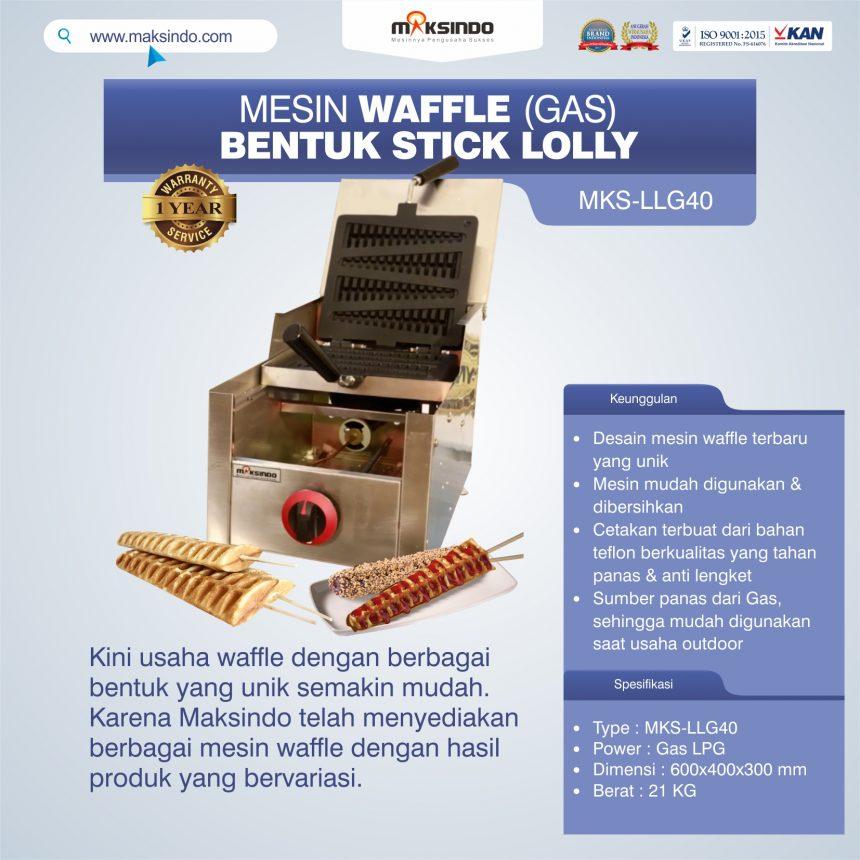 Jual Mesin Waffle Bentuk Stick Lolly (Gas) MKS-LLG40 di Banjarmasin