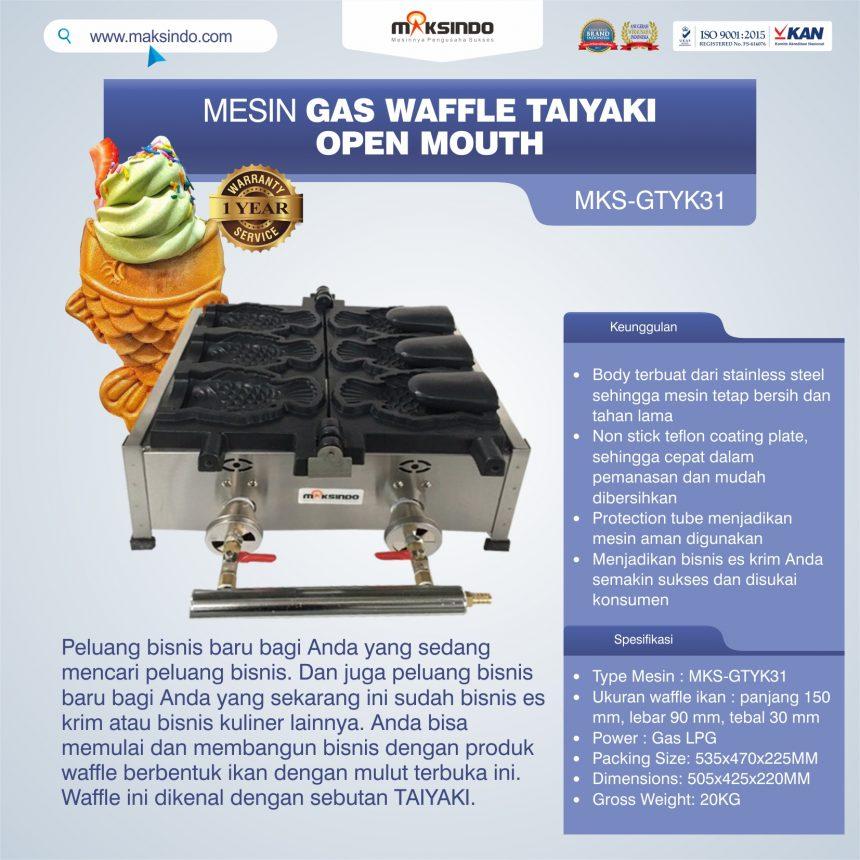 Jual Mesin Gas Waffle Taiyaki Open Mouth (GTYK31) di Banjarmasin