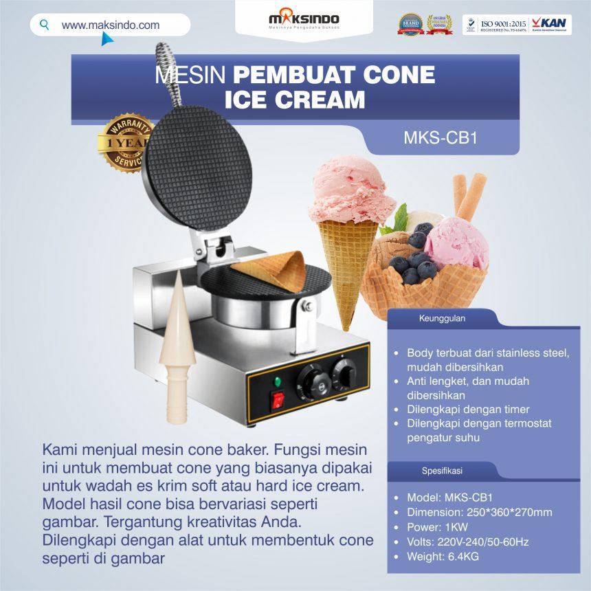 Jual Pembuat Cone Ice Cream MKS-CB1 di Banjarmasin