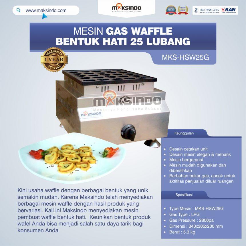 Jual Gas Waffle Bentuk Hati 25 Lubang MKS-HSW25G Di Banjarmasin