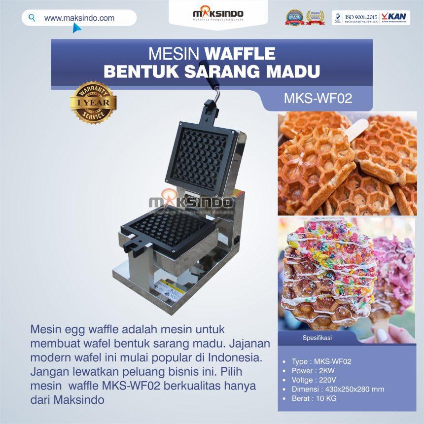 Jual Mesin Waffle Bentuk Sarang Madu MKS-WF02 di Banjarmasin
