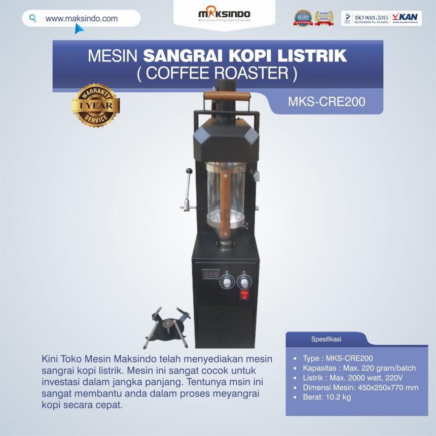 Jual Mesin Sangrai Kopi Listrik (Coffee Roaster) MKS-CRE200 di Banjarmasin