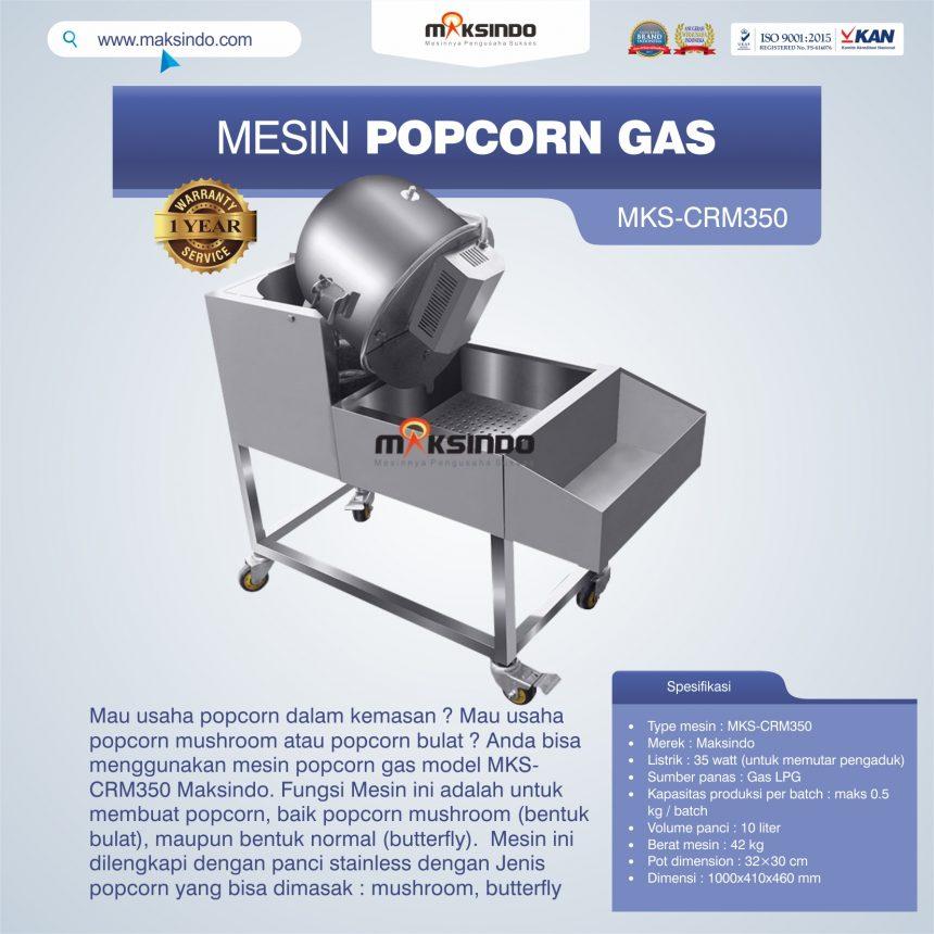 Jual Mesin Popcorn Gas Model MKS-CRM350 di Banjarmasin